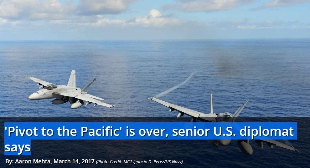 Chiến lược xoay trục về Châu Á của chính phủ Hoa Kỳ đã kết thúc