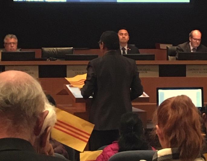 Hội đồng thành phố Milpitas chuẩn bị ra nghị quyết ủng hộ Lá Cờ Di Sản Và Tự Do của người Việt