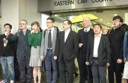 9 lãnh tụ chiếm đóng Hong Kong ra toà