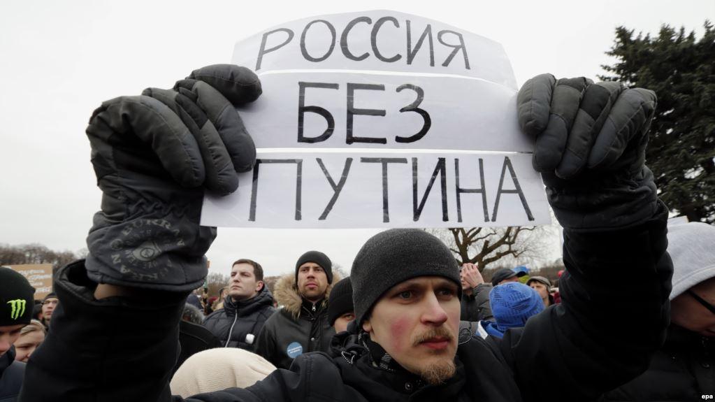Nước Nga bùng nổ các cuộc biểu tình đòi Putin rời vũ đài chính trị
