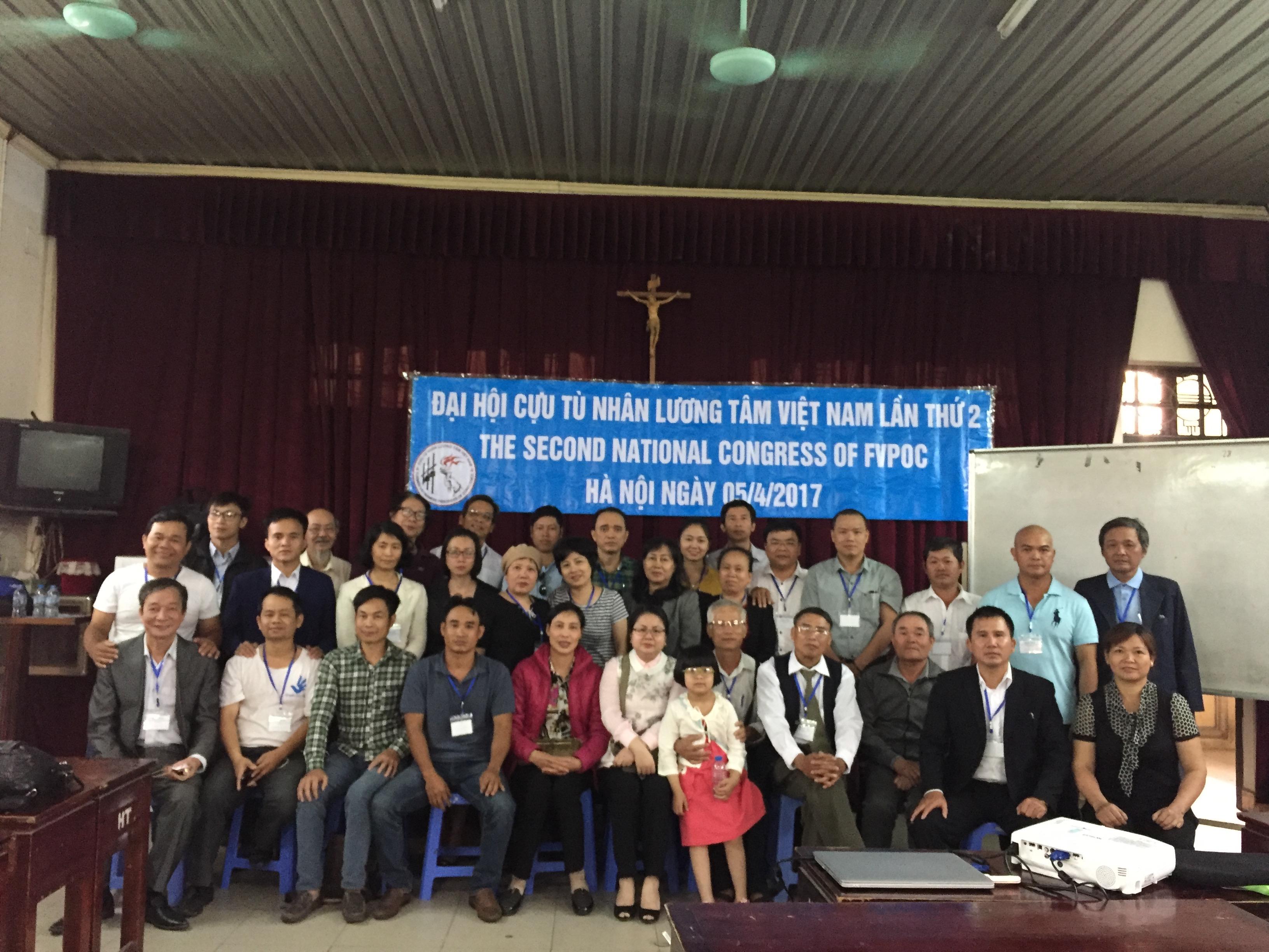 Hội Cựu Tù Nhân Lương Tâm Việt Nam tổ chức đại hội lần thứ 2 tại Hà Nội