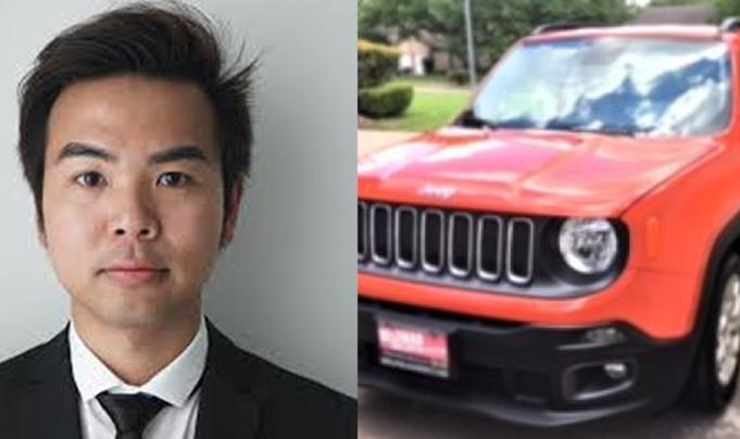 Tìm thấy xe Jeep của sinh viên gốc Việt mất tích ở Houston