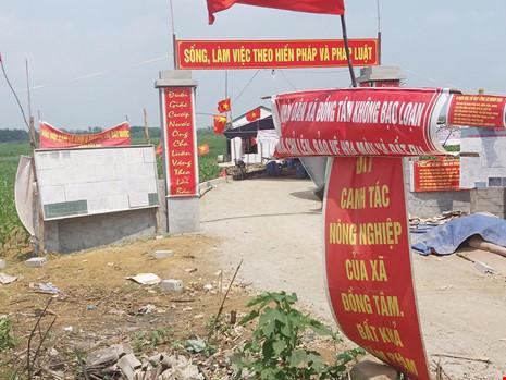 Đoàn thanh tra đất đai Đồng Tâm thay thế vị trí phó đoàn theo yêu cầu của người dân