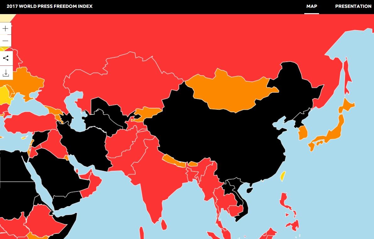 Tổ Chức Phóng Viên Không Biên Giới: Việt Nam hoàn toàn không có tự do báo chí