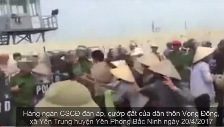 Vụ Đồng Tâm-Hà Nội chưa dứt, người dân ở Bắc Ninh lại đối đầu với công an cưỡng chế đất