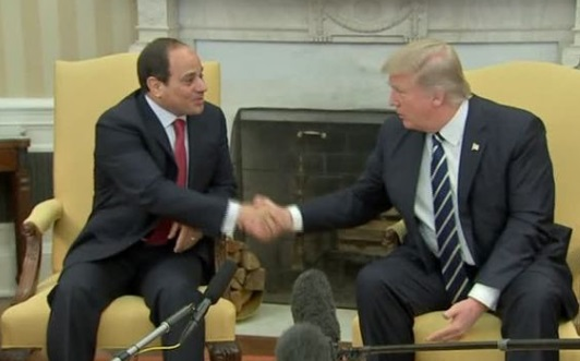 Tổng Thống Donald Trump đón tổng thống Ai Cập tới thăm Tòa Bạch Ốc