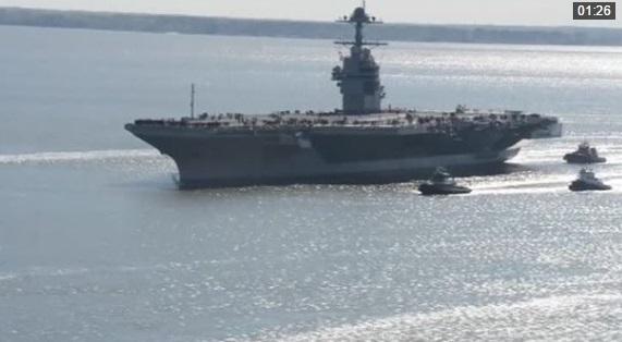Hải Quân Hoa Kỳ bắt đầu thử nghiệm hàng không mẫu hạm USS Gerald R. Ford