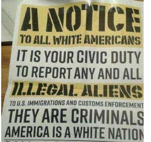 """Sinh viên đại học Texas tức giận vì truyền đơn của """"người Mỹ da trắng"""""""