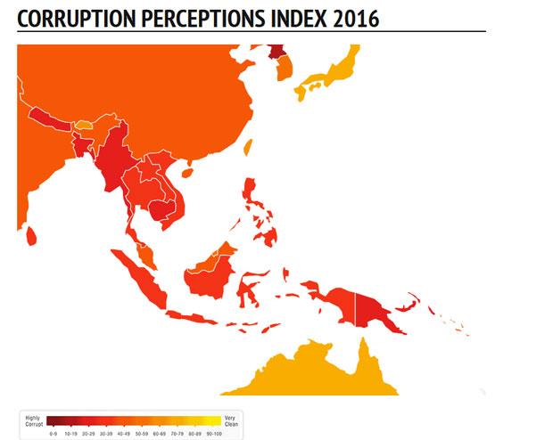Việt Nam vẫn nằm trong danh sách các quốc gia đứng đầu về tham nhũng