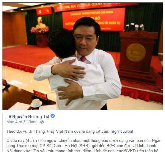 Ngân hàng ở Sài Gòn sa thải 2 giám đốc vì dám ra lệnh gỡ ảnh bí thư Thăng