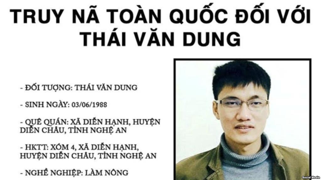 Công an Nghệ An truy nã nhà hoạt động Thái Văn Dung