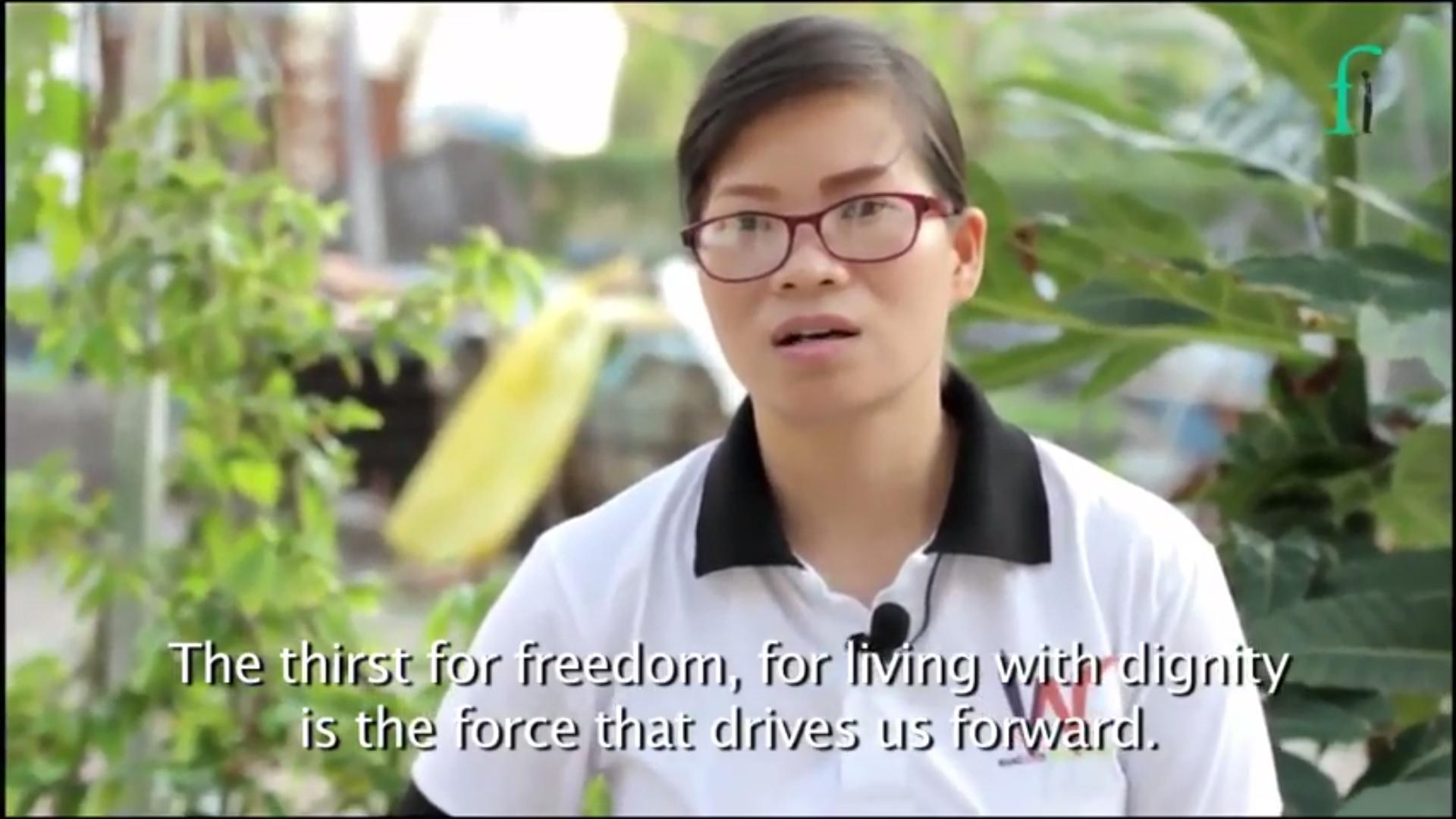 Front Line Defenders đăng video về cựu TNLT Phạm Thanh Nghiên trước khi trao giải nhân quyền