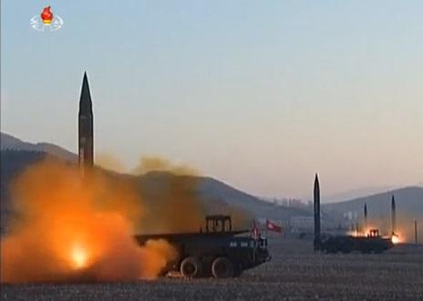 Bình Nhưỡng lại bắn hoả tiễn rơi xuống vùng biển giữa Bắc Hàn và Nhật Bản