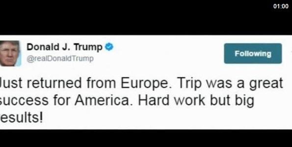 Vừa về tới Washington, ông Trump lên Twitter chỉ trích truyền thông đưa tin giả