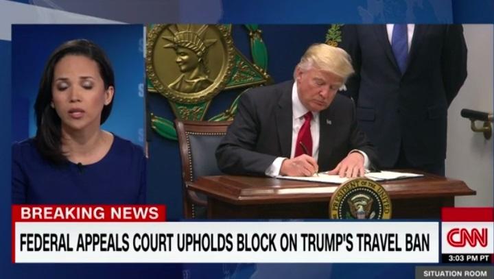 Tòa Kháng Án tiếp tục chặn sắc lệnh tạm thời cấm công dân 6 quốc  gia Hồi Giáo của Tổng Thống Trump