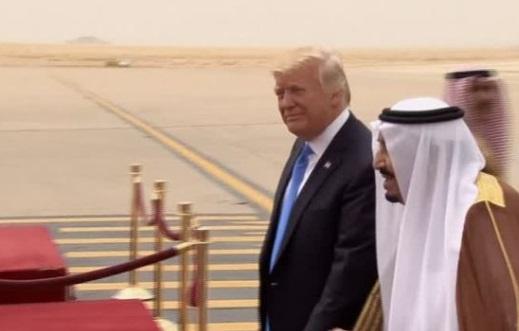 Tổng thống Trump đến Saudi Arabia trong chuyến công du đầu tiên