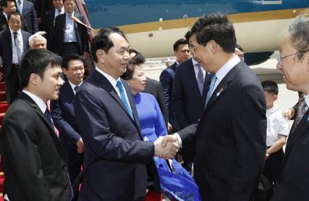 Chủ tịch nước CSVN Trần Đại Quang đến Bắc Kinh
