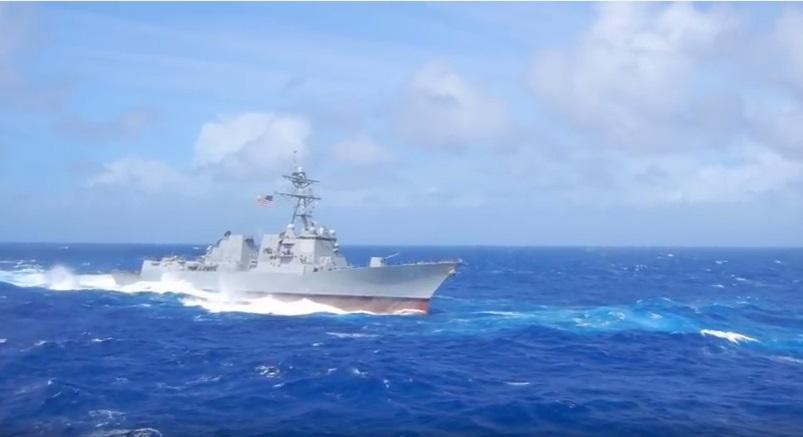 Lần đầu tiên dưới thời Trump, tàu chiến Hoa Kỳ đi vào vùng 12 hải lý đảo nhân tạo của Trung Cộng