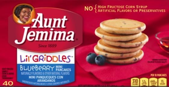 Pancake, waffles đông lạnh nhãn hiệu Aunt Jemima bị thu hồi