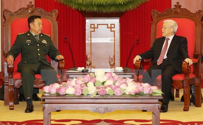 Chỉ là phó chủ tịch quân ủy trung ương Trung Cộng, nhưng được tam trụ CSVN đón tiếp long trọng