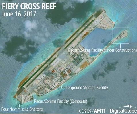 Trung Cộng xây thêm nhiều cơ sở trên các bãi đá ở Biển Đông
