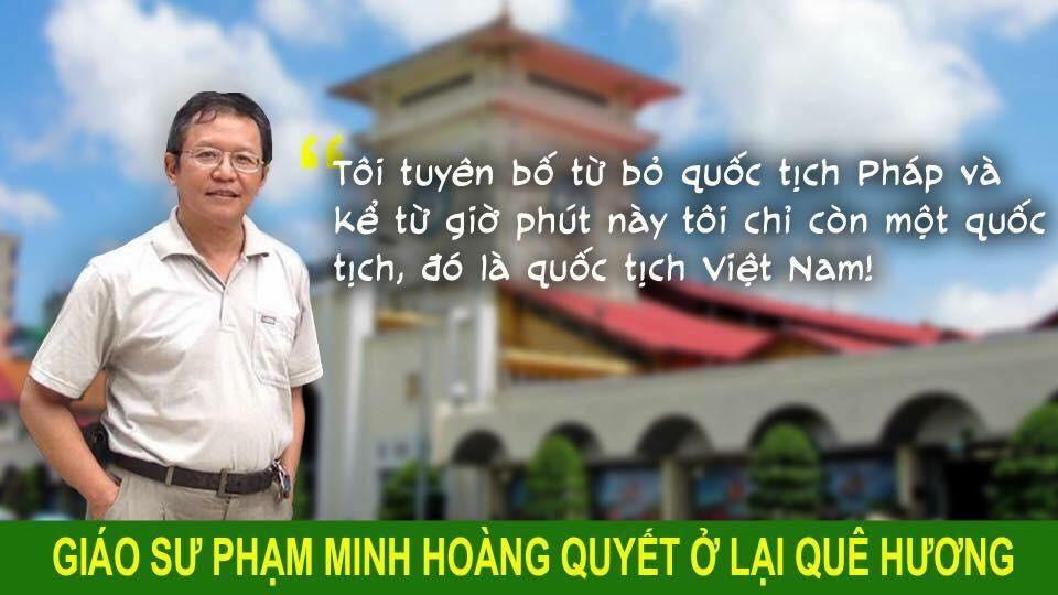 Giáo sư Phạm Minh Hoàng bị bắt và có thể bị trục xuất khỏi Việt Nam vào ngày mai