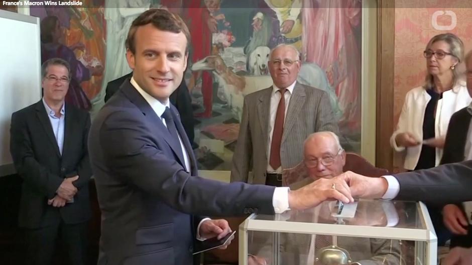 Bầu cử Quốc Hội Pháp: Đảng của Tổng Thống Macron thắng áp đảo vòng 1