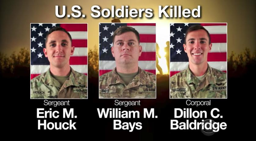 Quan tài 3 binh sĩ Mỹ tử thương được đưa về Hoa Kỳ