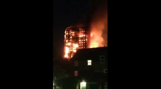 Cháy toà tháp cao giữa Luân Đôn: Ít nhất 6 người chết, 70 người bị thương