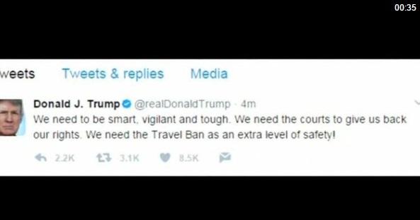 Tổng thống Trump nhắn tin nhắc nhở về lệnh cấm du lịch sau vụ tấn công tại London