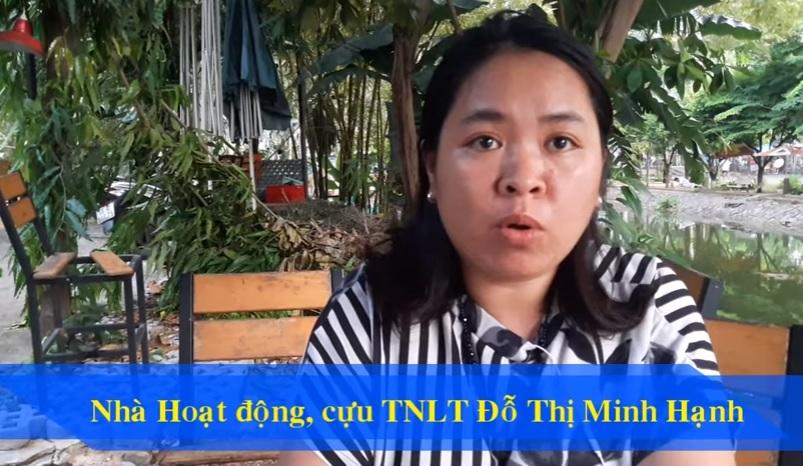 Nhà hoạt động Đỗ Thị Minh Hạnh tố cáo bị ngăn chặn xuất cảnh đến các tổ chức nhân quyền quốc tế