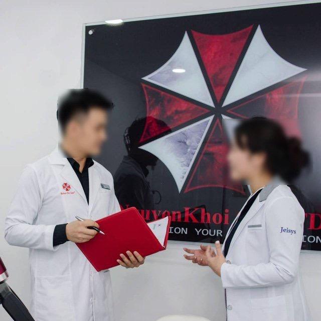 Công ty săn sóc da ở Sài Gòn sao chép biểu tượng chiếc dù của Resident Evil