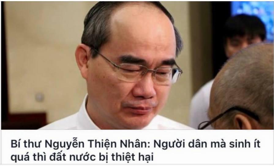"""Bí thư Nguyễn Thiện Nhân kêu gọi phụ nữ Sài Gòn đẻ thêm """"vì đất nước"""""""