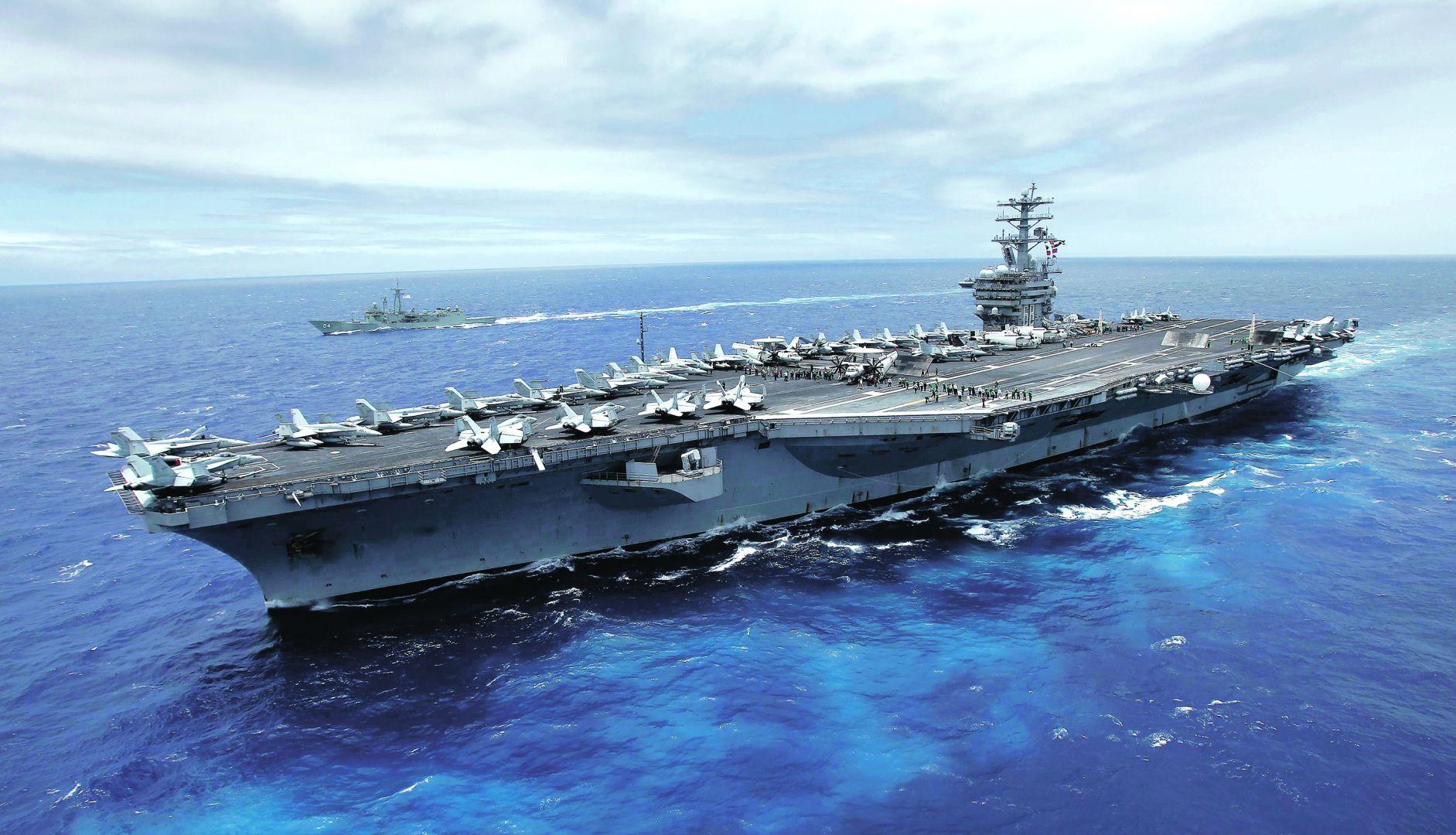 Hàng không mẫu hạm lớn nhất của Ấn Độ, Hoa Kỳ, Nhật Bản tập trận phô diễn lực lượng trước Trung Cộng