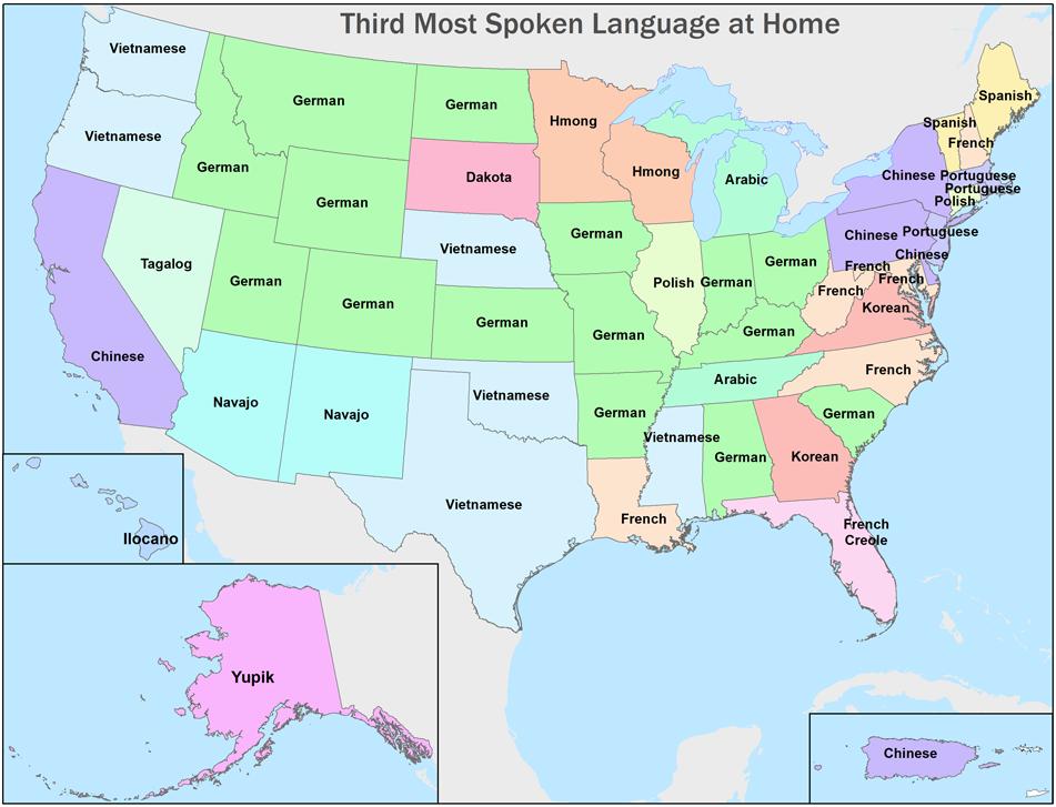 Tiếng Việt là ngoại ngữ phổ biến nhất tại 7 tiểu bang Hoa Kỳ