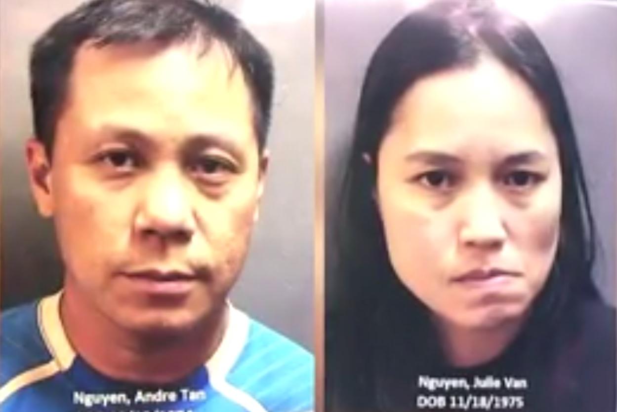 Cặp vợ chồng gốc Việt ở Houston bị cáo buộc tổ chức đường dây trộm cắp lớn