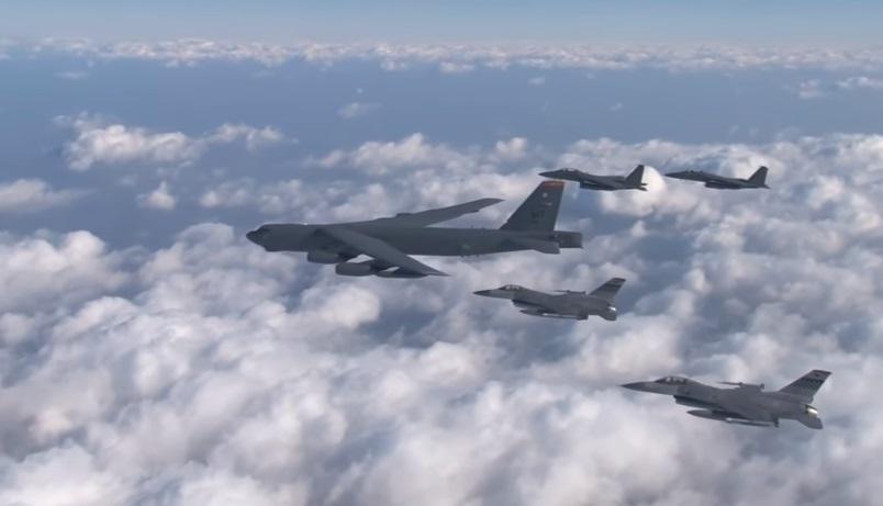 Oanh tạc Hoa Kỳ thả bom trơ xuống vùng phi quân sự sát biên giới Nam – Bắc Hàn