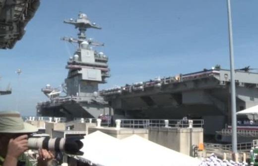 Hàng không mẫu hạm tân tiến đời mới USS Gerald R. Ford nhận nhiệm vụ