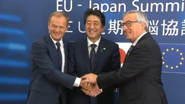 Nhật và Liên Âu ký thoả ước mậu dịch tự do có hiệu lực từ 2019