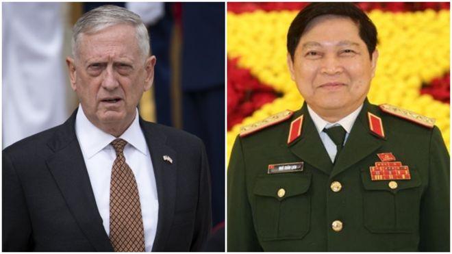 Bộ trưởng quốc phòng CSVN thăm Hoa Kỳ trong lúc căng thẳng với Trung Cộng gia tăng