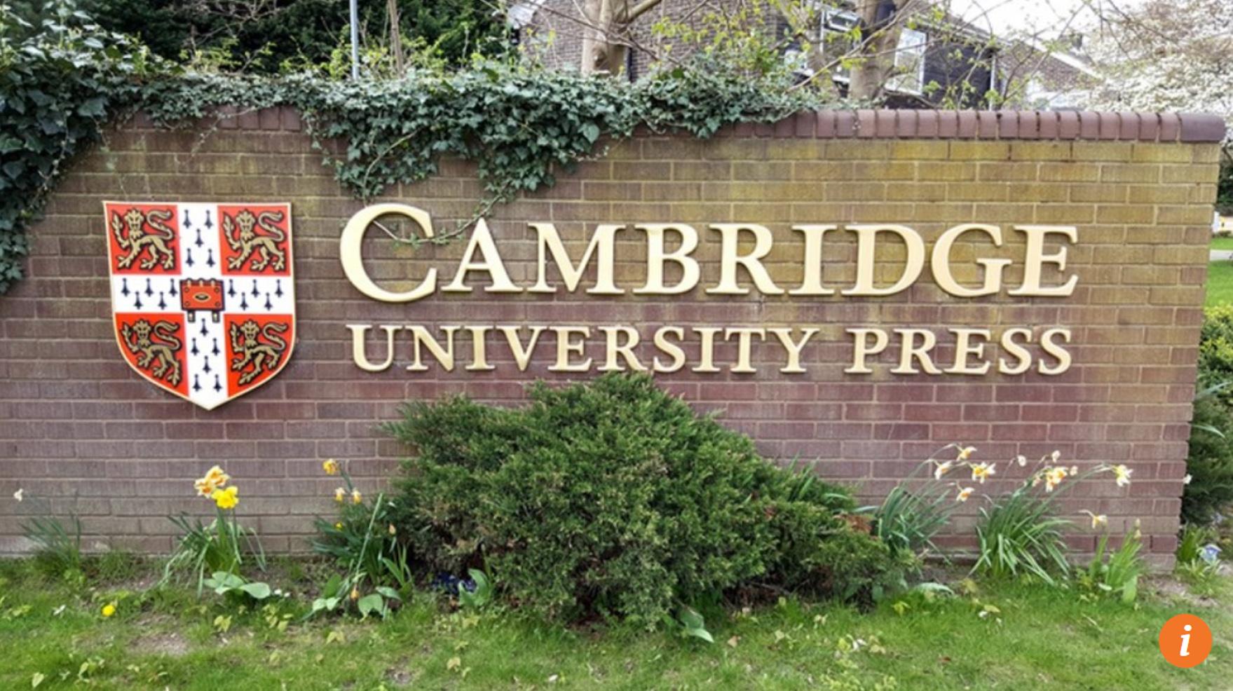 Hãng truyền thông Cambridge University Press cho phổ biến nhiều tài liệu bị cấm tại Trung Cộng