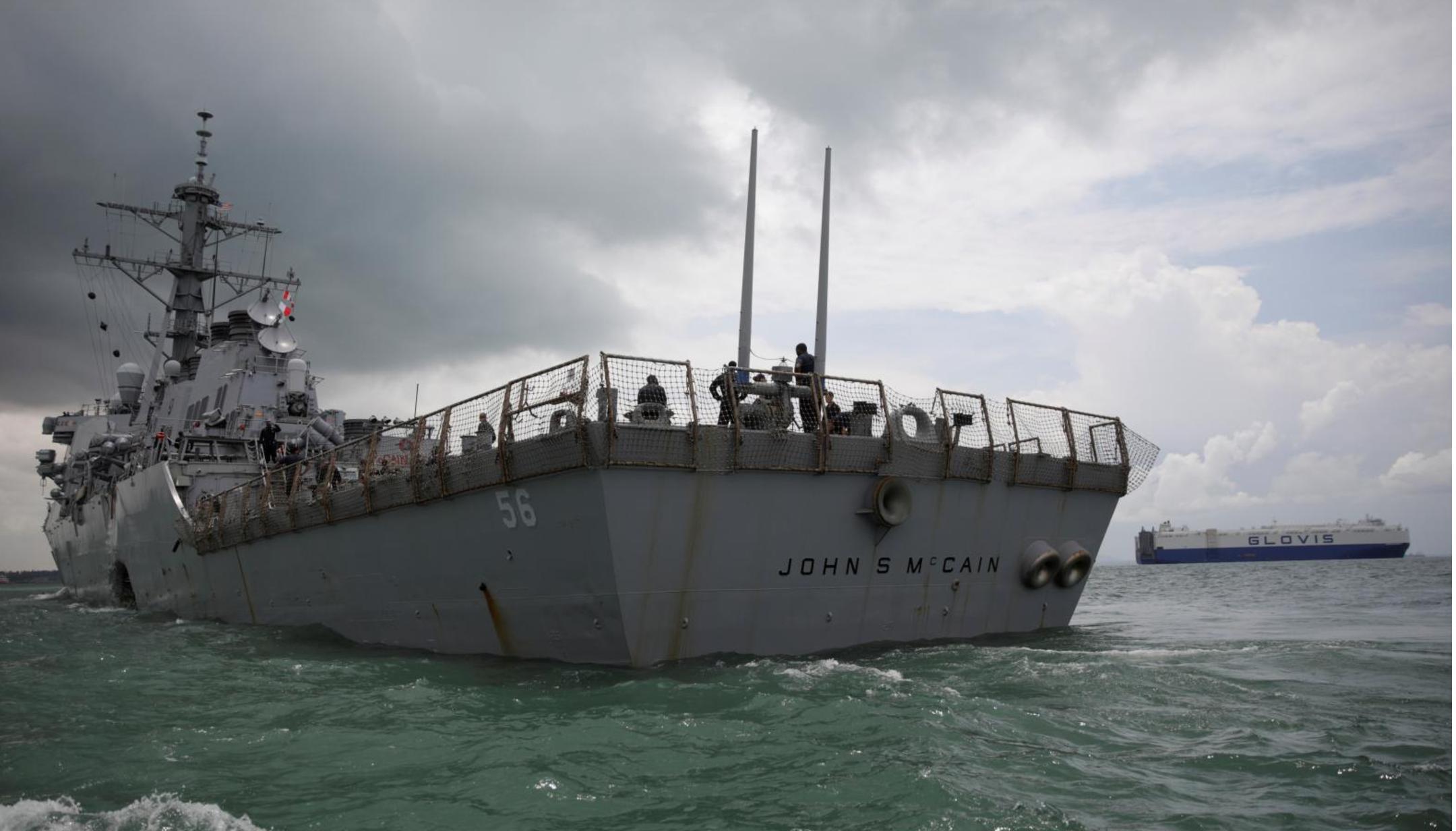 Chiến hạm USS John S McCain của Mỹ va chạm tàu chở dầu Singapore, 10 thủy thủ mất tích