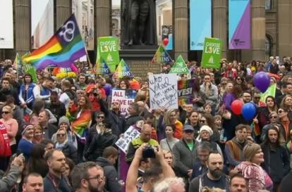 Hàng ngàn người tuần hành ủng hộ hôn nhân đồng tính tại Úc