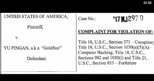 Nghi can người Hoa bị bắt vì phân phối phần mềm độc hại trong vụ đột nhập mạng internet ở Hoa Kỳ