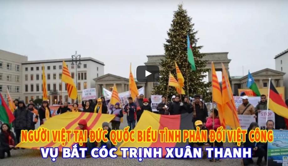 Người Việt tị nạn biểu tình ở Berlin chống gián điệp CSVN đe dọa cộng đồng