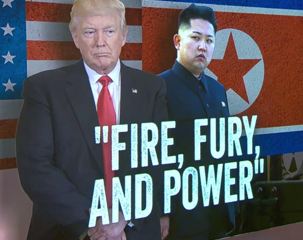 """Tổng thống Trump: Bắc Hàn chớ nên đe dọa hoa kỳ nếu không muốn bị """"sấm sét giáng xuống đầu"""""""