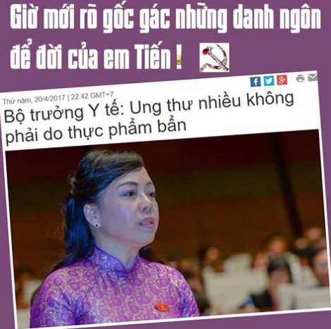 Lại là bà bộ trưởng bộ y tế Nguyễn Thị Kim Tiến! (Song Chi)