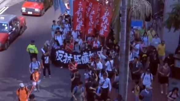 Hàng ngàn người biểu tình phản đối bản án tù 3 nhà vận động dân chủ Hong Kong
