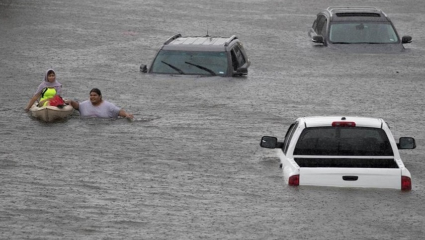 Khu vực Bellaire của cộng đồng người Việt tại Houston bị ngập lụt