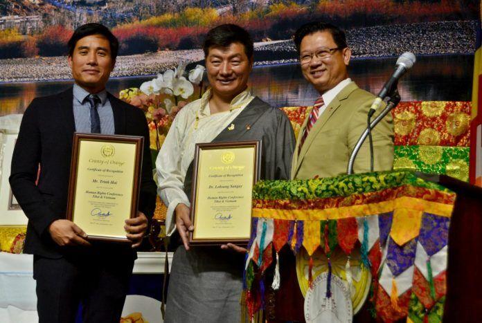 Tổng thống lưu vong Tây Tạng thảo luận về nhân quyền tại Little Saigon